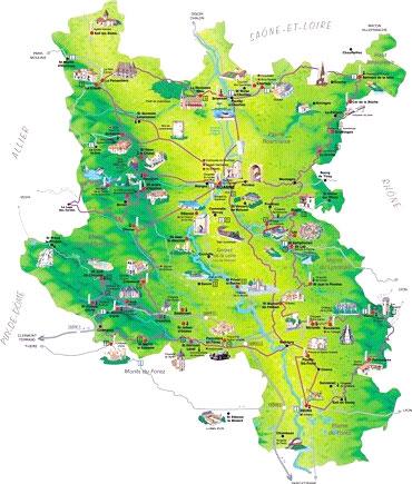 carte touristique du roannais