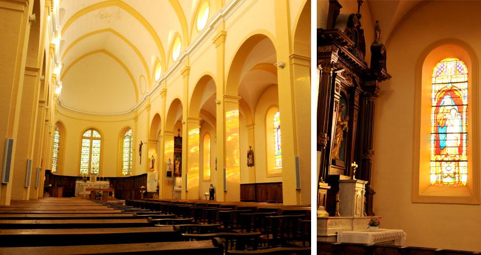 intérieur de l'église de La Gresle