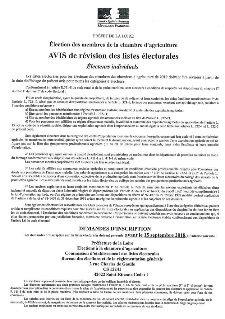 Election chambre d 39 agriculture commune de la gresle - Chambre d agriculture 31 ...